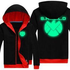 Mens Agents of S.H.I.E.L.D. hoodie Luminous fleece sweatshirt