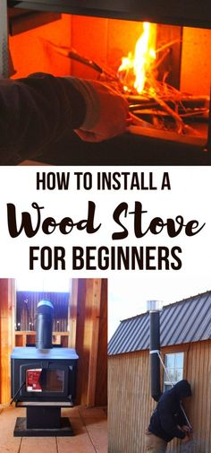Wondering how to install a wood stove hearth? If you're thinking of getting a wood stove fireplace, and aren't sure if it's for you (or whether a wood stove surround is a good idea), then read this wood stove ideas guide! Wood Stove Chimney, Wood Stove Hearth, Diy Wood Stove, Wood Stove Cooking, Stove Fireplace, Wood Burner, Wood Stove Heat Shield, Wood Stove Wall, Tiny House Wood Stove