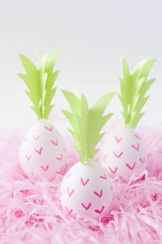 DIY PINK PINEAPPLE EASTER EGGS | Best Friends For Frosting