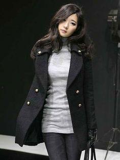 Chic Black Wool Women's Long Coat - Women's Coats - Outerwear - Women's Clothing