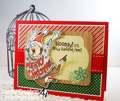 Art Impressions Rubber Stamps: Ugly Sweater Set.  Ai Christmas.  Handmade holiday card.