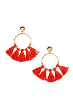 Круглые серьги с кистями - Красный - Женщины | H&M RU 1 Crochet Earrings, Outfits, Jewelry, Strands, Bracelets, Stud Earrings, Necklaces, Hand Made, Store