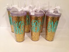 Personalized GOLD Glitter 22 Oz. Double Wall by BAlexanderDesigns