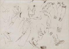 """Lote: 34003530, SOROLLA Y BASTIDA, Joaquín (Valencia, 1863 – Cercedilla, Madrid, 1923).  """"Estudio para """"El 2 de mayo de 1808"""".  Dibujo original a tinta sobre papel.  Adjunta certificado de autenticidad emitido por Blanca Pons Sorolla.  Medidas: 23 x 32 cm; 48 x 56 cm (marco)."""