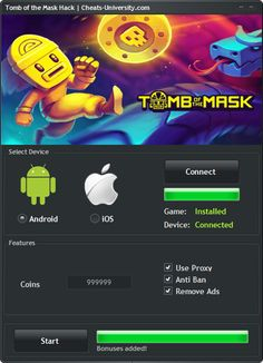 Tomb of the Mask Hack – Android ios Cheats  http://cheats-university.com/tomb-of-the-mask-hack-cheats/