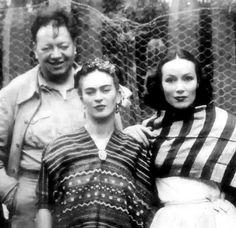Con Diego Rivera y Frida Kahlo.
