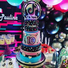 10th Birthday Cakes For Girls, 12 Year Old Birthday Party Ideas, 13 Birthday Cake, Girls Birthday Party Themes, 10th Birthday Parties, 12th Birthday, Birthday Party Decorations, Girl Cakes, Barbie