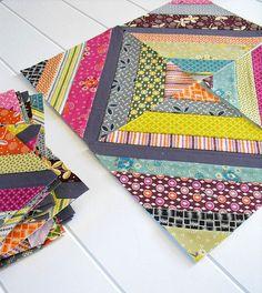 Hope Valley string blocks by Angela - Fussy Cut, via Flickr