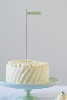 six-inch classic white layer cake {and a warning about airplane toilets}   Gives a recipe for one 2-layer 6-inch white cake.  Nice to know for when I only want to make enough cake for two.  Quick hint: to make a 2-layer 6-inch cake out of a 2-layer 9-inch recipe, simply cut the recipe in half.