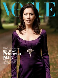 For the Love of Royalty:  Royal Women on the Covers of Magazines-Crown Princess Mary, Vogue Australia, 2004