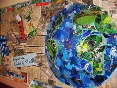 Create a recycled bulletin board for Earth Day.