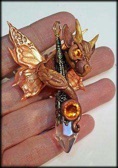 Bronze Warm Dragon Pendant by AstridMakosla.deviantart.com on @deviantART
