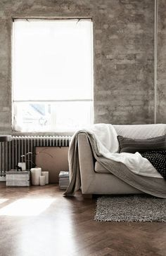 grays and whites. linens and furniture.