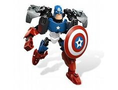Captain America from Lego - a great selection of Lego construction sets at Wonderland Models.    One of our favourite sets in the Lego Super Heroes range is the Captain America set.    Captain America is more powerful than ever with his powered up suit, indestructible bladed Vibranium shield and expert martial arts and boxing abilities. Alongside the other mighty Avengers, Captain America is going to show the super villains of the world that they messed with the wrong guy!