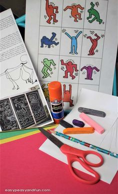 Keith Haring Art for Kids - Pop Art Lesson Idea - Easy Peasy and Fun