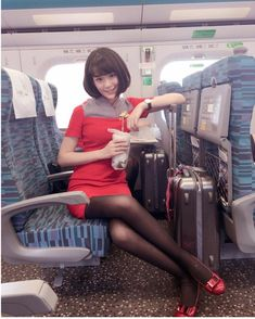 Far Eastern Air Transport - Taiwan Airline Cabin Crew, Bus Girl, Airline Uniforms, Pantyhose Legs, Nylons, Black Stockings, Flight Attendant, Black Tights, Tight Leggings