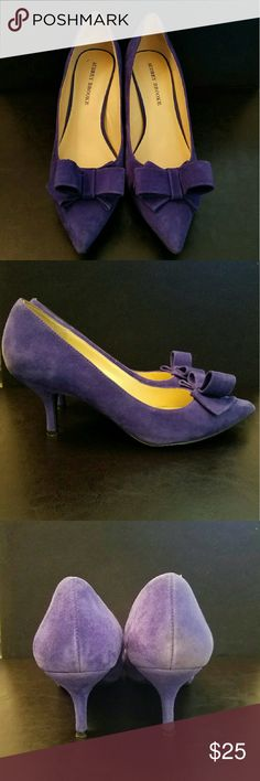 Pumps Purplish blue mini heel with bow detail in front. Perfect and classy for the work place. Audrey Brooke Shoes Heels