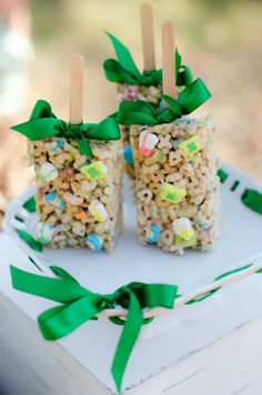 Lucky Charms squares-great for a kids party.