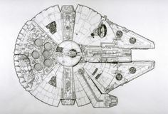 Star Wars - Schematic concept art from A New Hope