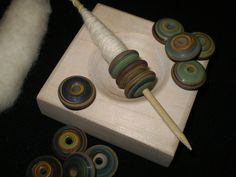 Multiple beads used as a spindle whorl
