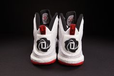 new arrival 34b0b fd253  adidas D-Rose 5 Boost White Red  sneakers Derrick Rose, Red