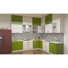 Pee interiors green and white modular kitchen wardrobe green and white kitchen green white kitchen decor . L Shaped Modular Kitchen, L Shaped Kitchen Designs, Kitchen Cupboard Designs, Clean Kitchen Cabinets, Kitchen Flooring, Kitchen Ideas, Kitchen Wardrobe Design, Kitchen Room Design, Interior Design Kitchen