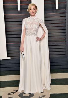 Elizabeth Banks look Oscar 2016 - cape party dress / vestido de festa