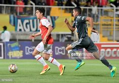 BOGOTA, COLOMBIA - AUGUST 28: Kevin Salazar (L) of Santa Fe... #santamaria: BOGOTA, COLOMBIA - AUGUST 28: Kevin Salazar (L) of… #santamaria