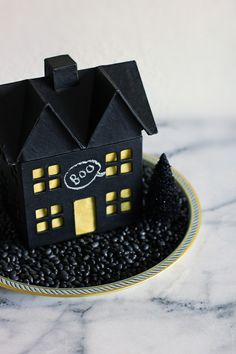 Chalkboard Haunted House DIY