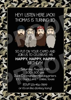 Duck Dynasty birthday party ideas #duckdynasty #kidspartyideas #birthdayparty