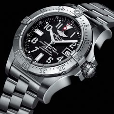 The Breitling Avenger SeaWolf is one of the most beautiful designs this watch company ever produced, it is a sophisticated masterpiece. The color and the shape of the case make this watch perfect for young and strong men who like adventure and fashion in the same time.