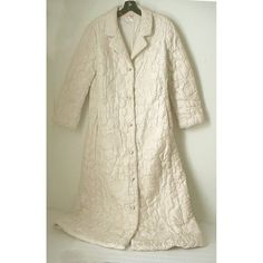 Vintage Ivory Silk Quilted Robe Empress of Hong Kong Paisley Design