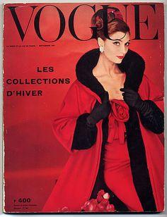 Vogue Paris 1957 September Winter Collections René Gruau René Bouché Guy Bourdin