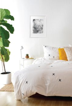 x's duvet cover in black and white. 100% organic fair trade cotton.