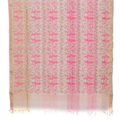 Marm Handprinted Chanderi Silk Cotton Dupatta 10000360 - AVISHYA.COM