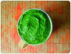 zielona pinacolada = szpinak + pietruszka + ananas + mleko kokosowe + olej kokosowy + cynamon + maca