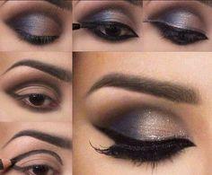 макияж, make up, косметика, пошагово, сделать макияж глаз
