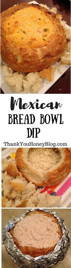Mexican Bread Bowl Appetizer is a crowd pleaser appetizer. Perfect for game day. Click through & PIN IT to read later & Follow + Subscribe, Appetizer, Recipe, Tutorial, Mexican, Dip, Starter, Mexican Bread Bowl Dip, Mexican Bread Bowl Appetizer, Football, Tailgating, Watch Parties