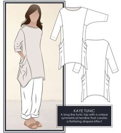 Kaye Tunic Top by Style Arc