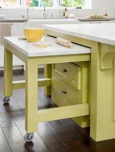 ideas para cocinas pequeñas- muebles multifuncionales