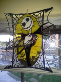 Custom Stained Glass - Jack Skellington by Glass Art for the World ...