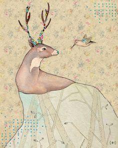 ...tener un bosque dentro. Art Print by Belén Segarra | Society6