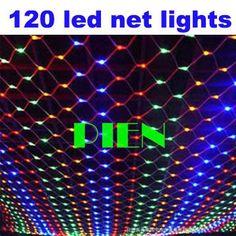 120 LED праздник огни строки 220 В 120 В Рождество Новый Год гирлянда Открытый Веб Чистая Lamparas 1.5 м х 1.5 м по DHL 15 шт./лот