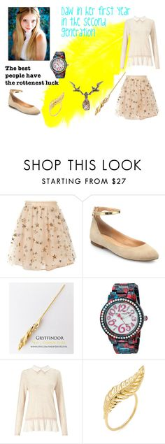 """Daw in her first year,in the second generation with Harry Potter"" by alicia-daw-skywalker on Polyvore featuring moda, Valentino, Sigerson Morrison, Betsey Johnson, Miss Selfridge y Jacquie Aiche"