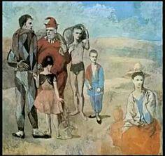 122. Pablo Picasso, I saltimbanchi 1905 m 2,13x2,30 tela Washington National gallery of Art