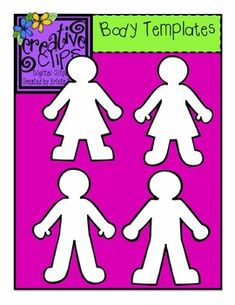 Blank Body Template Clipart- Perfect for making character analysis activities, crafts and more! $ Creative Clips Digital Clipart