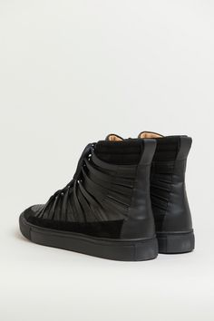 Damir Doma black falco high top lace up sneakers