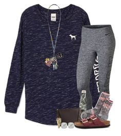 """""""Ootd"""" by taymaccallister ❤ liked on Polyvore featuring Victoria's Secret, NIKE, West Elm, Louis Vuitton, Birkenstock, Vera Bradley and Frederic Sage"""