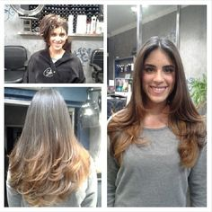 """""""nicky's ombre hair . before and after #SofisColorLounge in summit"""" Photo taken by @mariamiranda56 on Instagram, pinned via the InstaPin iOS App! http://www.instapinapp.com (12/11/2013)"""
