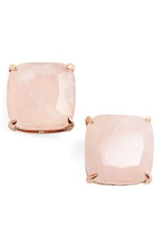 // kate spade new york // mother of pearl 12k gold plated studs